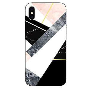 abordables Coques d'iPhone-Coque Pour Apple iPhone X / iPhone 8 Plus / iPhone 8 Transparente / Motif Coque Marbre Flexible TPU