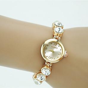ieftine Cuarț ceasuri-Pentru femei Ceas Brățară Diamond Watch ceas de aur Quartz Auriu Stras imitație de diamant Analog femei Charm Modă Elegant - Auriu Un an Durată de Viaţă Baterie / Tianqiu 377