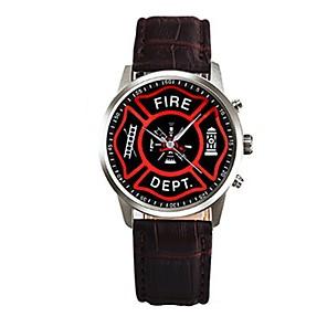 ieftine Imbracaminte & Accesorii Căței-Bărbați Ceas de Mână Piele PU Matlasată Negru / Alb / Maro 30 m Cronograf Creative Cool Analog Maro Rosu Roz Un an Durată de Viaţă Baterie / Oțel inoxidabil / SSUO LR626