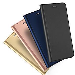 hesapli iPhone Kılıfları-Pouzdro Uyumluluk Apple iPhone XS / iPhone XR / iPhone XS Max Kart Tutucu / Flip / Manyetik Tam Kaplama Kılıf Solid Sert PU Deri