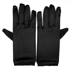 ieftine Mănuși & Mănuși 1 deget-Spandex Lungime Încheietură Mănușă Mănuși de Mireasă / Mănuși de Party / Seară Cu Perlă Artificială