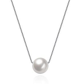 ieftine Colier la Modă-Pentru femei Perle Coliere cu Pandativ Plutire femei Modă S925 Sterling Silver Argintiu 40 cm Coliere Bijuterii 1 Pentru Cadou Zilnic