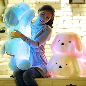 ieftine Benzi Lumină LED-Romantic Caini Γεμιστά και λούτρινα ζωάκια Lumină LED Încântător Confortabil LED Unisex Fete Jucarii Cadou 1 pcs