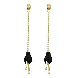 ieftine Imbracaminte & Accesorii Căței-Pentru femei Cercei Picătură Lung Floare femei Modă cercei Bijuterii Negru / Alb / Roz Pentru Cadou Dată