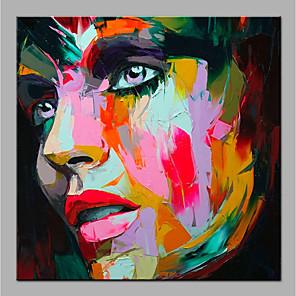 povoljno Bojano-Hang oslikana uljanim bojama Ručno oslikana - Sažetak Ljudi Moderna Bez unutrašnje Frame / Valjani platno