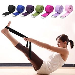 ieftine Îngrijire Unghii-Yoga Curea textil Întins Durabil Curea D-Ring Ajustabilă Fizioterapie întindere Mărește Flexibilitatea Yoga Pilates Fitness Pentru Unisex