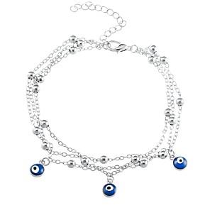 ieftine Brățări-Pentru femei Brățări cu Talismane Deochi femei Modă Aliaj Bijuterii brățară Auriu / Argintiu Pentru Zilnic Ieșire