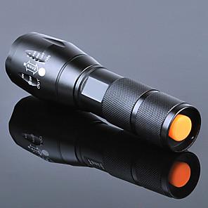ieftine lanterne-Lanterne LED Rezistent la apă Zoomable 3000 lm LED emițători 5 Mod Zbor Cu Baterie și Încărcător Rezistent la apă Zoomable Reîncărcabil Focalizare Ajustabilă Foarte luminos De mare putere Camping