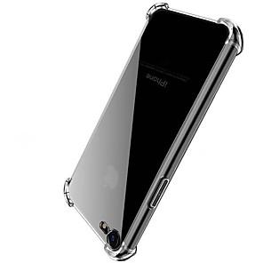 ieftine Becuri De Mașină LED-Maska Pentru Apple iPhone X / iPhone 8 Plus / iPhone 8 Anti Șoc / Transparent Capac Spate Mată Greu Teracotă
