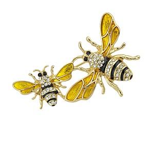 povoljno Broševi-Žene Broševi Crtani Inovativno Pčela dame Osnovni Moda Broš Jewelry Zlato Za Dnevno Spoj