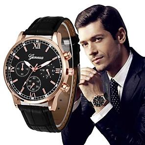 ieftine Ceasuri Curele din Piele-Bărbați Ceas Elegant Aviation Watch Lux Cronograf Piele PU Matlasată Negru / Argint Analog - Negru și Auriu Auriu Negru / Albastru Un an Durată de Viaţă Baterie / Oțel inoxidabil / Mare Dial