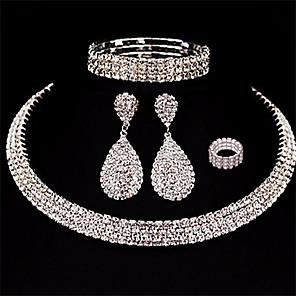 ieftine Seturi de Bijuterii-Pentru femei Cercei Picătură Multistratificat Pară Picătură femei European Modă Multistratificat cercei Bijuterii Alb Pentru Nuntă Mascaradă Petrecere Logodnă Bal Promisiune