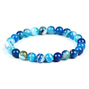 ieftine Lupe-Bărbați Pentru femei Piatra vulcanică Hawks Eye Stone Brățări cu Mărgele Brățară chakra Boem Modă EQUILIBRIO energie Piatră Bijuterii brățară Albastru Deschis Pentru Zi de Naștere Serată