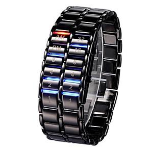 ieftine Becuri LED Glob-Bărbați Pentru femei Ceas de Mână Ceas digital Digital Negru / Argint Calendar Cronograf Luminos Piloane de Menținut Carnea Atârnat Cool - Alb Negru Un an Durată de Viaţă Baterie / Iluminat