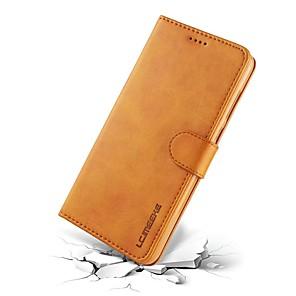 저렴한 Huawei 케이스 / 커버-케이스 제품 Huawei Mate 10 / Mate 10 pro / Mate 10 lite 지갑 / 카드 홀더 / 플립 전체 바디 케이스 솔리드 하드 진짜 가죽