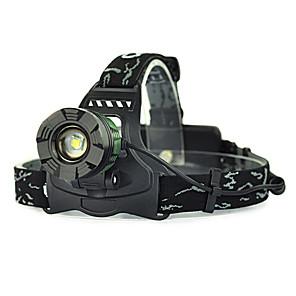 ieftine Frontale-Frontale lumini de securitate Becul farurilor 5000 lm LED LED emițători 1 Mod Zbor Camping / Cățărare / Speologie Vânătoare Verde