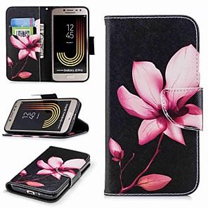 abordables Pochettes / Coques d'iPad-Coque Pour Samsung Galaxy J7 (2017) / J5 (2017) / J5 (2016) Portefeuille / Porte Carte / Avec Support Coque Intégrale Fleur Dur faux cuir