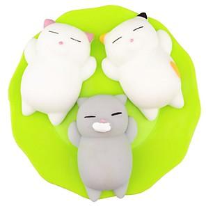 ieftine Jucării Novelty-pufoasă Squishies Squishy Toy Jucării din Cauciuc Alină Stresul Pisici Mini Kawaii Mochi Pentru Pentru copii Adulți Băieți Fete Cadou Favorizarea petrecerii 3 pcs