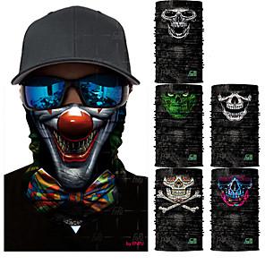 ieftine Cagule și măști pentru față-Face Mask Uscare rapidă Rezistent la Ultraviolete Limită Bacterii Bicicletă / Ciclism Gri Gri Închis Curcubeu Poliester pentru Bărbați Pentru femei Adulți Ciclism stradal Drumeție Ciclism / Biciclet