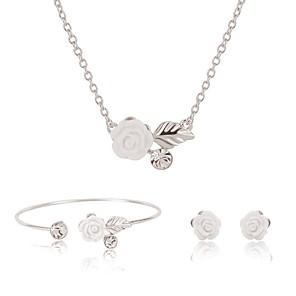 ieftine Cuarț ceasuri-Pentru femei Seturi de bijuterii femei Dulce Modă Elegant cercei Bijuterii Argintiu Pentru Cadou Stradă / Cercei