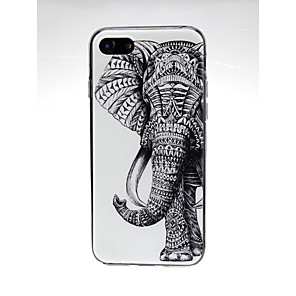 ieftine Carcase iPhone-Maska Pentru Apple iPhone X / iPhone 8 Plus / iPhone 8 Ultra subțire / Model / Încântător Capac Spate Animal / Elefant Moale TPU
