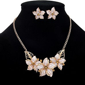 ieftine Seturi de Bijuterii-Pentru femei Safir Seturi de bijuterii Colier / cercei Floare femei Boem European Boho cercei Bijuterii Negru / Alb / Mov Pentru Petrecere Ceremonie Serată / Cercei