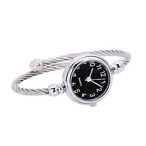 ieftine Ceasuri Damă-Pentru femei femei Ceas Brățară Quartz Argint Cronograf Ceas Casual Analog Atârnat minimalist - Negru Argintiu Argintiu / negru Un an Durată de Viaţă Baterie / SSUO LR626