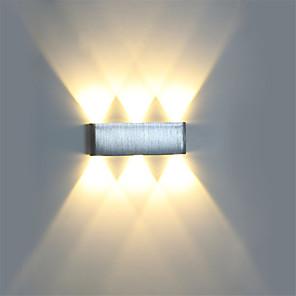 ieftine Abajure Perete-moderne 6w condus de perete sconce lumina dispozitiv de interior holul de perete lampă aluminiu iluminat decorativ a condus integrat