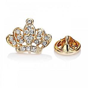 Χαμηλού Κόστους Καρφίτσες-Κρυστάλλινο Καρφίτσες Princess Crown Ring Πριγκίπισσα Στέμμα κυρίες Βίντατζ Γλυκός Μοντέρνα Καρφίτσα Κοσμήματα Χρυσό Ασημί Για Γάμου Πάρτι Βραδινό Πάρτυ Μασκάρεμα Πάρτι Αρραβώνων Χοροεσπερίδα