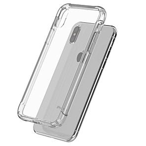 abordables Coques d'iPhone-Coque Pour Apple iPhone X / iPhone 8 Plus / iPhone 8 Antichoc / corps Transparent Coque Couleur Pleine Flexible TPU