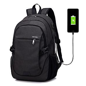 """ieftine Lumini de Interior Mașină-LITBest 15 """"laptop Rucsaci Terilenă Mată pentru biroul de afaceri pentru Colegii și Școli pentru calatorie cu port USB de încărcare / gaură pentru căști"""