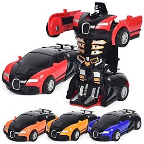 Недорогие Другие радиоуправляемые игрушки-1:12 Игрушечные машинки Автомобиль Робот трансформируемый Cool Металлический сплав 1 pcs