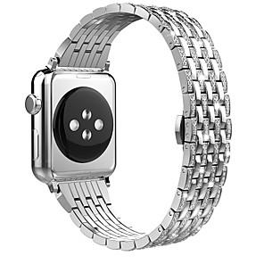 Недорогие Ремешки для Apple Watch-Ремешок для часов для Серия Apple Watch 5/4/3/2/1 Apple Бабочка Пряжка Нержавеющая сталь Повязка на запястье