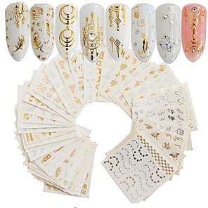 povoljno Šminka i njega noktiju-30 pcs Umjetni noktički savjeti Nail Art Kit Naljepnice nail art Manikura Pedikura Prijenosno Nail Decals Dnevno