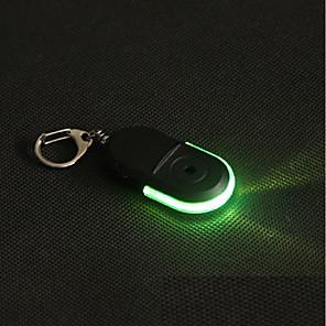 ieftine Lumini Nocturne LED-fluierul de sunet a condus lumina anti-a pierdut alarma cheie localizator localizator keychain