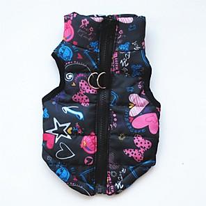 ieftine Imbracaminte & Accesorii Căței-Câini Pisici Animale de Companie Iarnă Îmbrăcăminte Câini Negru Mov Rosu Costume Corgi Beagle Shiba Inu Bumbac Mată Imprimeu Puncte & Carouri Casul / Zilnic Keep Warm XS S M L