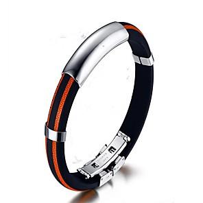 ieftine Ceasuri Bărbați-Brățări Bangle Modă silicagel Bijuterii brățară Alb / Portocaliu / Galben Pentru Cadou Zilnic