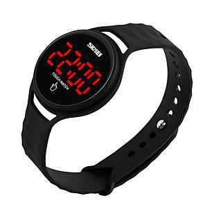 Недорогие Цифровые часы-Муж. Жен. электронные часы Цифровой Элегантный стиль Защита от влаги силиконовый Черный / Белый / Синий Цифровой - Черный Желтый Красный Один год Срок службы батареи / ЖК экран