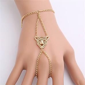 ieftine Brățări-Brățări cu Lanț & Legături Ring Bracelets Handmade Link Bracelet Sclavii de aur femei Vintage Modă Aliaj Bijuterii brățară Auriu Pentru Petrecere Concediu