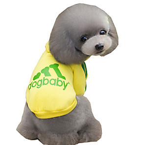 ieftine Cabluri Ethernet-Pisici Câine Hanorace cu Glugă Iarnă Îmbrăcăminte Câini Negru Albastru Deschis Galben Costume Bumbac Literă & Număr Sport Modă XS S M L XL XXL