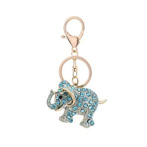 ieftine Breloc-breloc Elefant Casual Modă Inele la Modă Bijuterii Maro Deschis / Alb / Albastru Deschis Pentru Cadou Zilnic