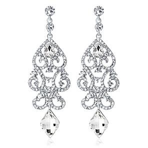ieftine Cercei-Cristal Cercei Picătură Candelabru Picătură femei Modă Elegant de Mireasă De Fiecare Zi cercei Bijuterii Argintiu Pentru Nuntă Party / Seara