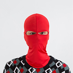 ieftine Masca-cagule Face Mask Culoare solidă Rezistent la Vânt Keep Warm Uscare Rapidă Rezistent la Praf Bicicletă / Ciclism Negru Gri Alb Spandex pentru Bărbați Pentru femei Adulți Camping & Drumeții Schiat