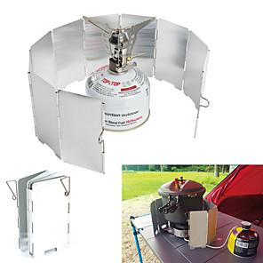 ieftine Bucătărie Camping-Farfurie Camping Ustensile de Gătit Ușor Rezistent la Vânt Mini Aluminiu pentru În aer liber Drumeție Camping Argintiu