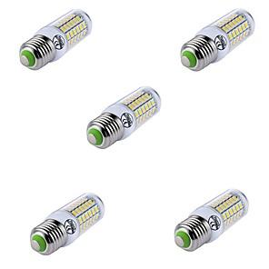 ieftine Îngrijire Unghii-5pcs Lămpi de lumânare cu 69 de lumini e27 Lampă de porumb cu LED-uri t 69 margele cu LED-uri smd5730 decorative de culoare caldă / rece pentru lumina reflectoarelor candelabru 220-240v