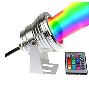 ieftine Cercei-1 buc 10 W Lumini Subacvatice Rezistent la apă / Controlat de la distanță / Intensitate Luminoasă Reglabilă RGB + alb 12 V Lumina Exterior / Piscina / Curte 1 LED-uri de margele