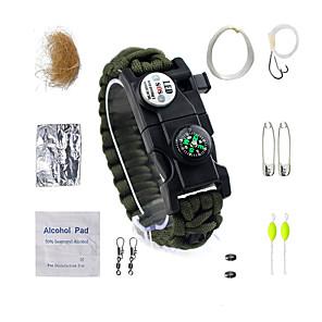 ieftine Urgență & Supraviețuire-supraviețuire brățară Fire Starter Breloc Tactic Rezistent la apă LED Fibră nylon Camping & Drumeții Pescuit Camping / Cățărare / Speologie Voiaj Călătorie 14 pcs Camuflaj
