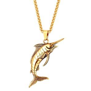 ieftine Coliere-Coliere cu Pandativ Pești Animal Modă Teak Negru Auriu Argintiu 55 cm Coliere Bijuterii Pentru Zilnic