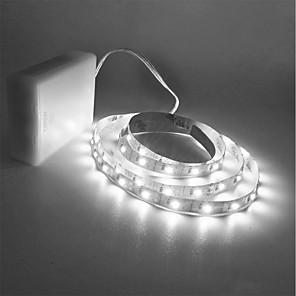 ieftine Fâșii Becurie LED-Zdm® 1.5m lămpi cu șir 300 led-uri 2835 smd 8mm alb-cald / alb rece-tăiat / potrivit pentru vehicule / auto-adezive baterii aa cu 1 buc