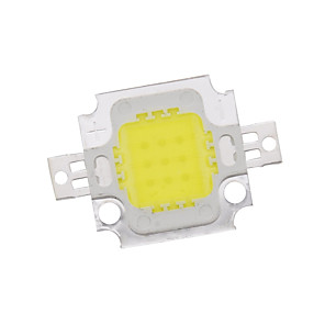 ieftine LED-uri-zdm 10w de înaltă putere integrat condus naturale alb / aur sudura de sârmă de cupru bracket (dc9-12v 900ua)